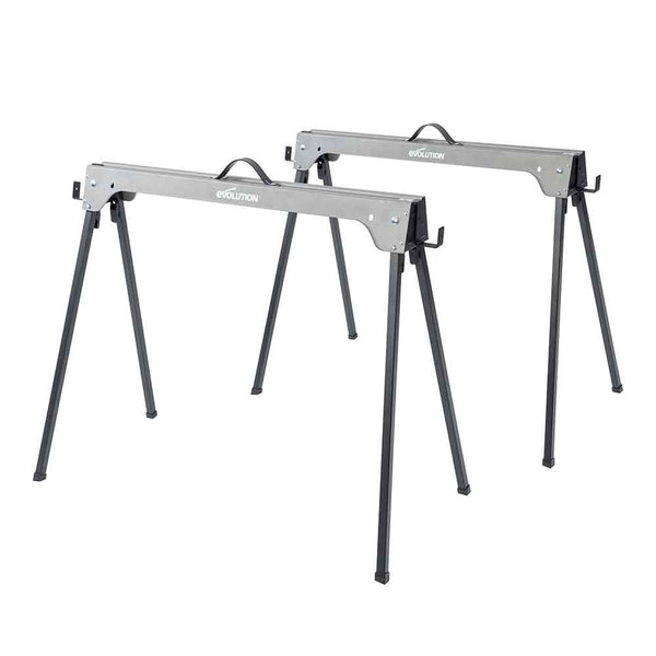 Evolution Metal Saw Horse With Folding Legs (Twin-Pack) - Evolution Power Tools