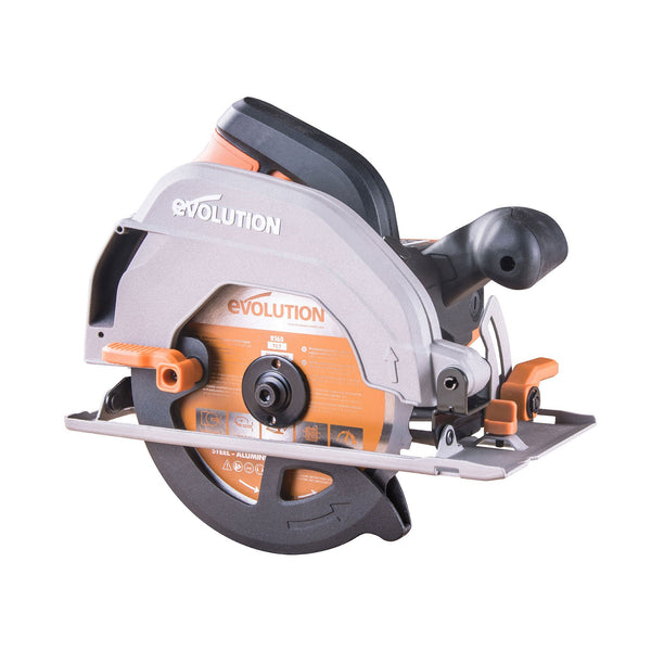 Evolution R165CCSL 165mm Circular Saw with TCT Multi-Material Cutting Blade - Evolution Power Tools UK