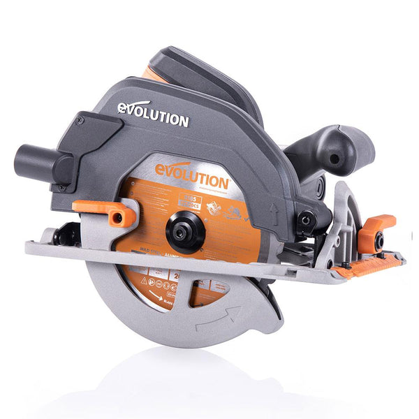 R185CCS - 185mm Circular Saw with TCT Multi-Material Cutting Blade - Evolution Power Tools