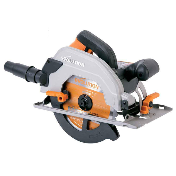 Evolution R185CCSL 185mm Circular Saw with TCT Multi-Material Cutting Blade - Evolution Power Tools UK