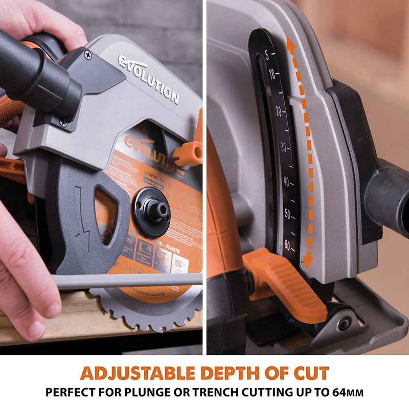R185CCSL - 185mm Circular Saw with TCT Multi-Material Cutting Blade - Evolution Power Tools
