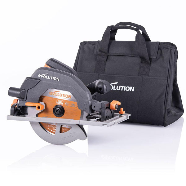 Evolution R185CCSX+ 185mm Circular Saw with TCT Multi-Material Cutting Blade - Evolution Power Tools