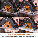 Evolution R185CCSX+ 185mm Circular Saw with TCT Multi-Material Cutting Blade - Evolution Power Tools UK