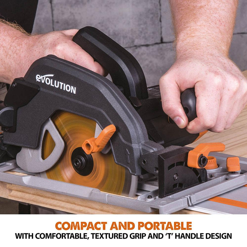 R185CCSX - 185mm Circular Saw with TCT Multi-Material Cutting Blade (Refurbished - Like New) - Evolution Power Tools