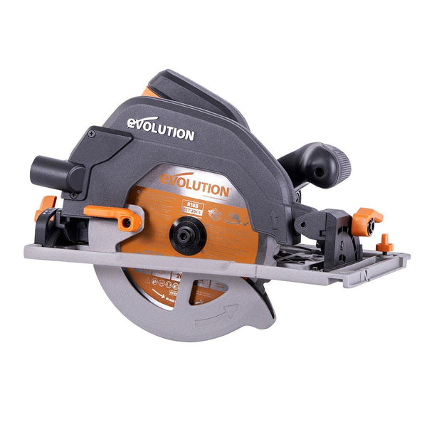 Evolution R185CCSX - 185mm Circular Saw with TCT Multi-Material Cutting Blade (Refurbished - Like New) - Evolution Power Tools