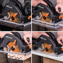 Evolution R185CCSX 185mm Circular Saw with 1020mm Track and TCT Multi-Material Cutting Blade - Evolution Power Tools UK