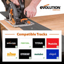 R185CCSX - 185mm Circular Saw with 1020mm Track and TCT Multi-Material Cutting Blade - Evolution Power Tools
