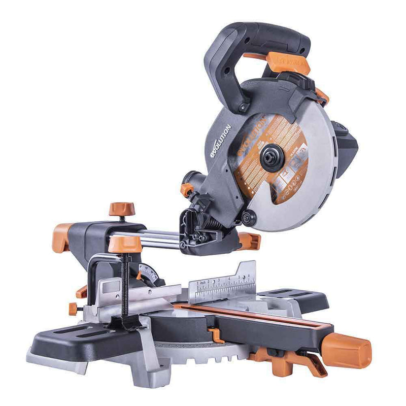 Evolution R185SMS 185mm Sliding Mitre Saw With TCT Multi-Material Cutting Blade - Evolution Power Tools UK
