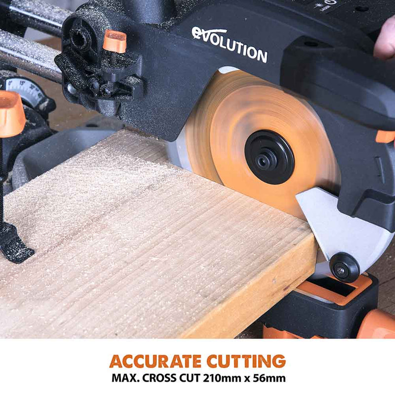 R185SMS - 185mm Sliding Mitre Saw - Evolution Power Tools