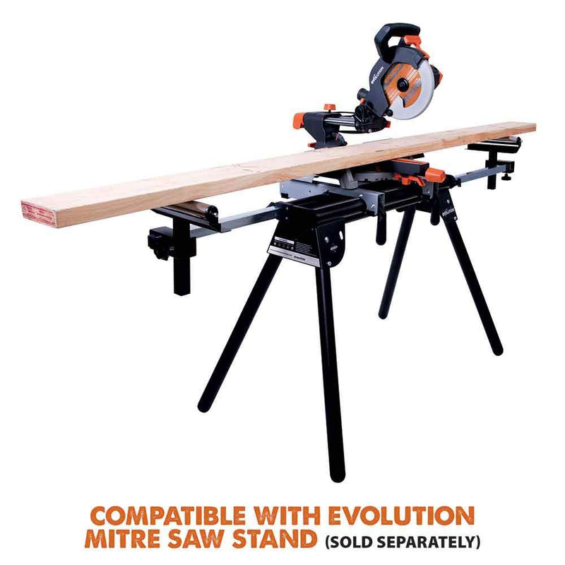 Evolution R210SMS 210mm Sliding Mitre Saw With TCT Multi-Material Cutting Blade - Evolution Power Tools UK