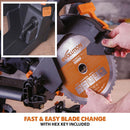 Evolution R210SMS-300+ Sliding Mitre Saw With TCT Multi-Material Cutting Blade - Evolution Power Tools UK