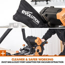 Evolution R255SMS-DB+ 255mm Double Bevel Sliding Mitre Saw With TCT Multi-Material Cutting Blade - Evolution Power Tools UK