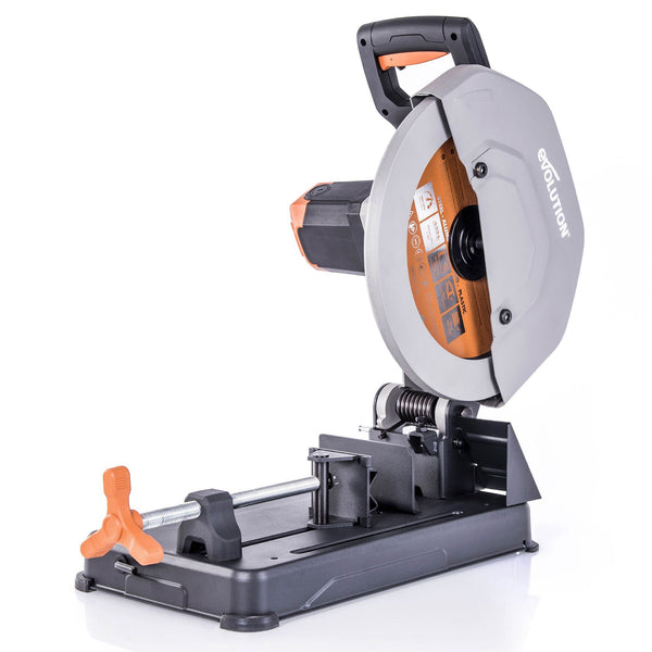 Evolution R355CPS 355mm Chop Saw with TCT Multi-material Cutting Blade - Evolution Power Tools
