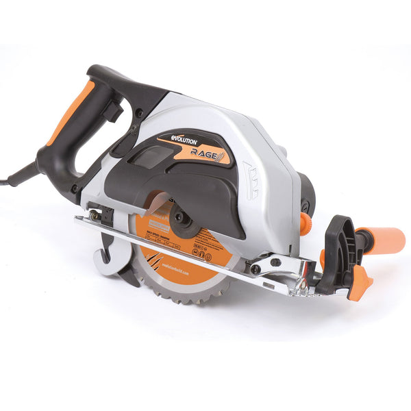 Evolution RAGE1 (110V): 185mm Circular Saw with TCT Multi-Material Cutting Blade (Discontinued) - Evolution Power Tools