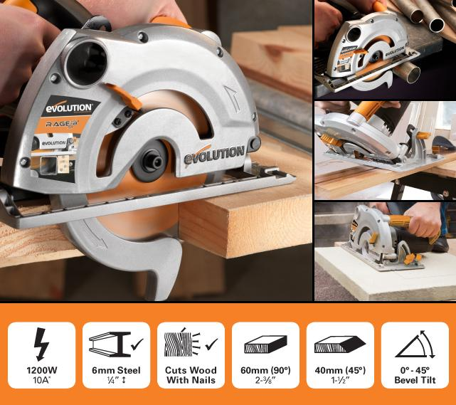Evolution RAGE1-B 185mm Circular Saw (Discontinued) - Evolution Power Tools UK