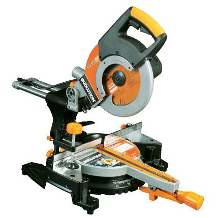 RAGE3 - 255mm Sliding Mitre Saw With TCT Multi-Material Cutting Blade (110v) (Discontinued) - Evolution Power Tools