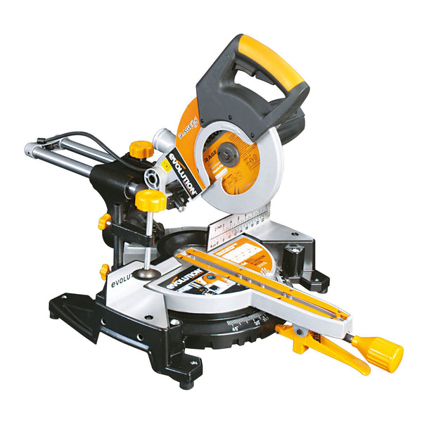 RAGE3-S300: 210mm sliding mitre saw with 60 x 300mm cross cut (Discontinued) - Evolution Power Tools