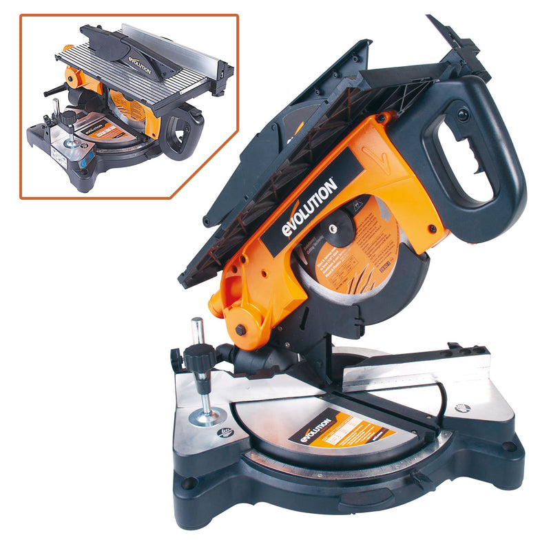 Evolution RAGE6 255mm mitre/table saw (Discontinued) - Evolution Power Tools UK