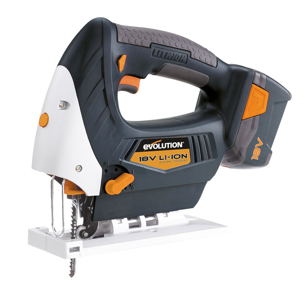 RAGE7 18V Lithium-Ion Jigsaw with 2 Batteries & Charger. - Evolution Power Tools Ltd.