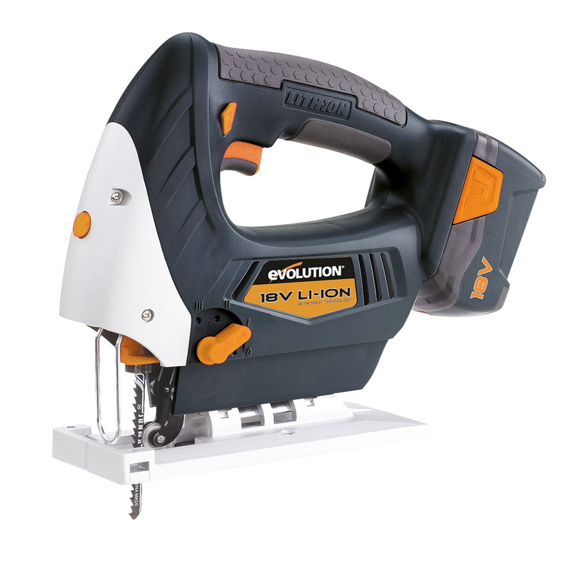 Evolution RAGE7 18V Lithium-Ion Jigsaw & Charger (Discontinued) - Evolution Power Tools UK