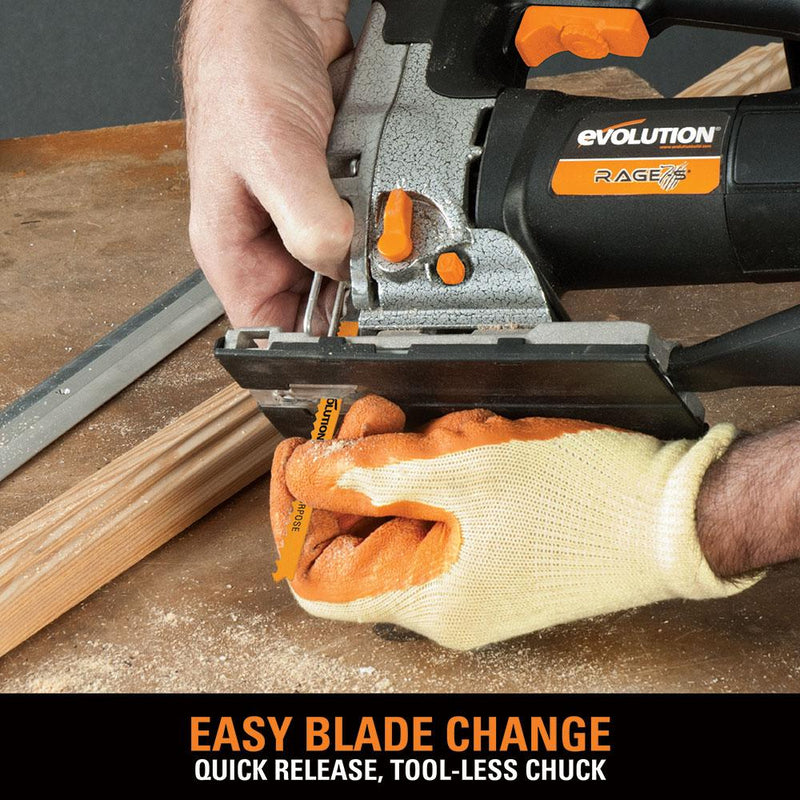 Evolution RAGE7-S 710W Jigsaw - Evolution Power Tools