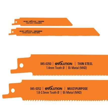 Reciprocating Saw Multi-Material Cutting Blades (x2) - Evolution Power Tools