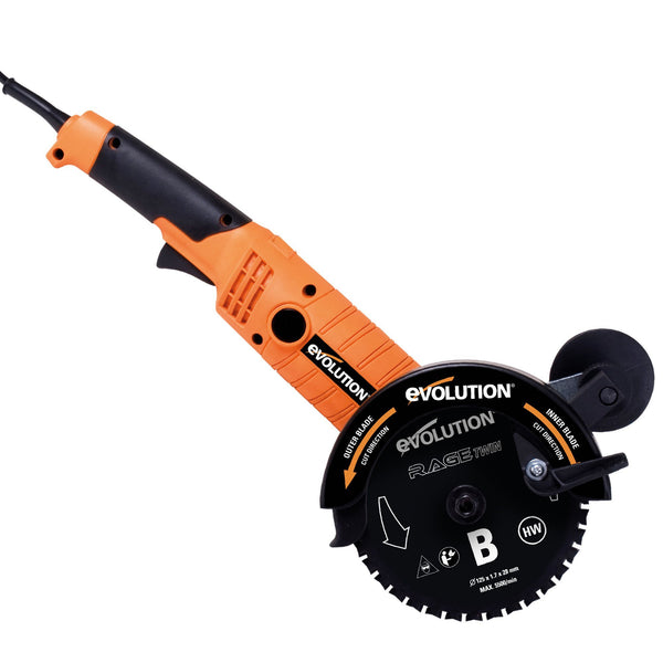 RAGETWIN155 (110V): 155mm dual blade saw (Discontinued) - Evolution Power Tools