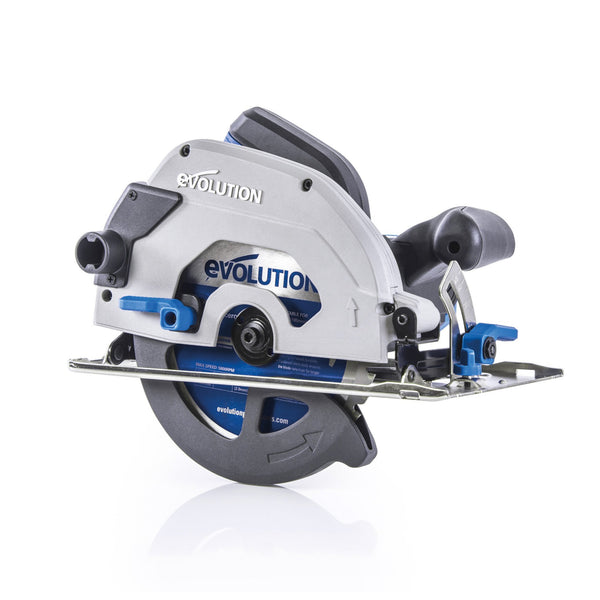 S185CCSL - 185mm Circular Saw with TCT Mild Steel Cutting Blade - Evolution Power Tools