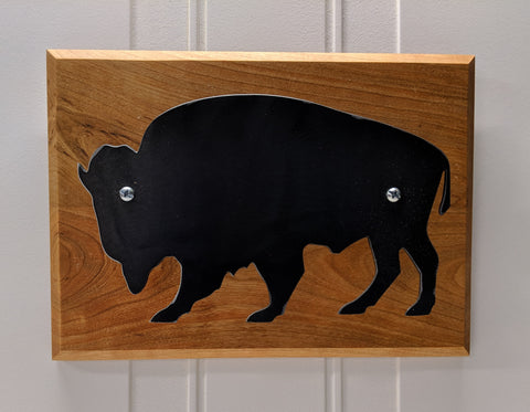 Blackened Steel on Cherry Wall Hanger