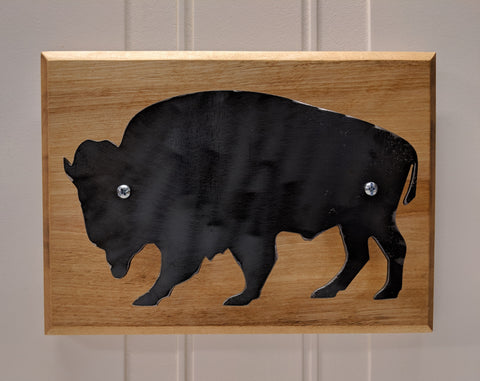 Blackened Steel on Maple Wall Hanger