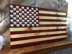 Open image in slideshow, Dyngus Day Polish Falcon Wood Burned Flag