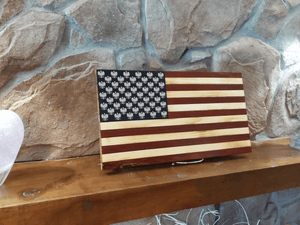 Open image in slideshow, Polish Falcon Wood Burned Flag