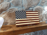 Shamrock Wood Burned Flag