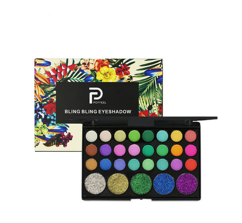 40 Color Matte Eyeshadow Pallete glitter