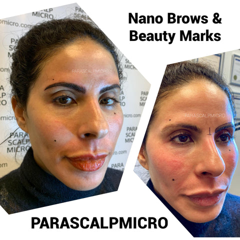 before and after 3-D Nano Brows Microblading Tattoo Eyebrows Embroidery New York City NJ PA CT Long Island