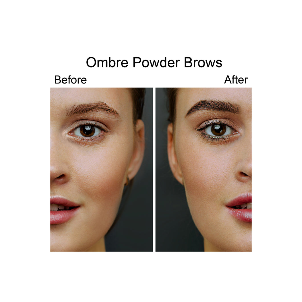 Ombre Powder Brows single session no touch up - PARASCALPMICRO INSTITUTE