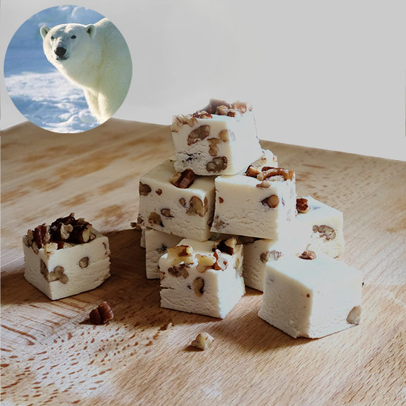 POLAR BEAR (White Chocolate Pecan) FUDGE