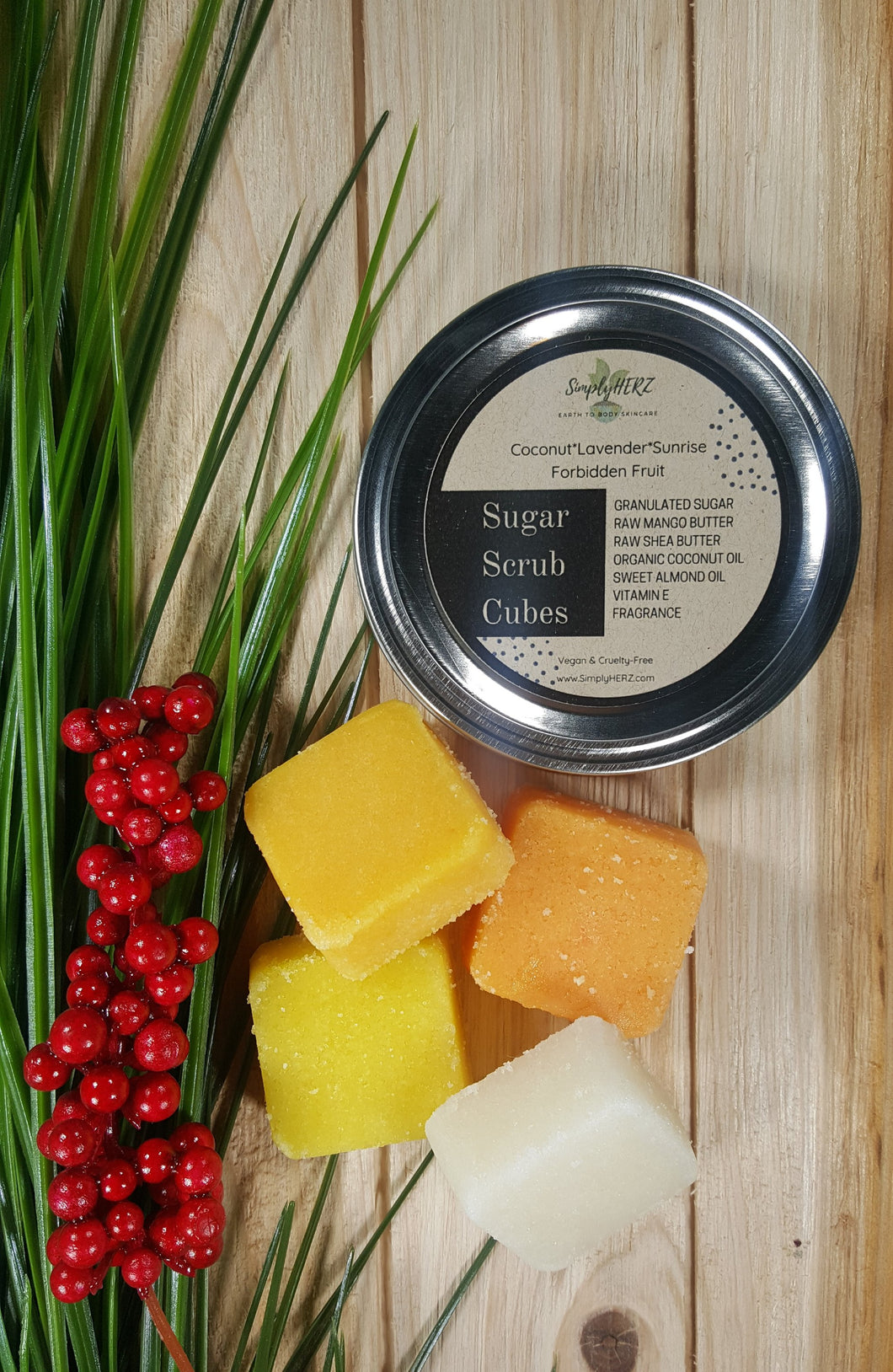 Simply Herz Forbidden Fruit Sugar Scrub Cube