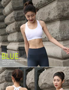 BINAND Women Solid Push up Sexy Shockproof Sports Bra Elastic Backless Breathable Quick Dry Full Cup Workout Gym Yoga Tank Top