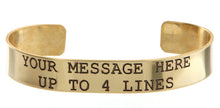 Load image into Gallery viewer, Brass w/ Black Lettering Custom Memorial Bracelet