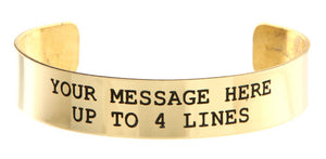 Brass w/ Black Lettering Custom Memorial Bracelet