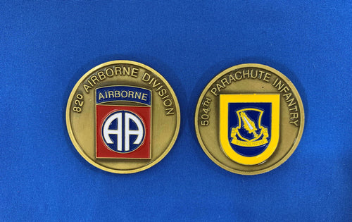 504th Parachute Infantry Regiment Coin