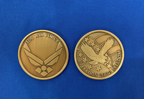 OIF USAF New Metal Coin
