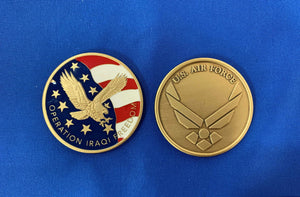OIF USAF New Enamel Coin