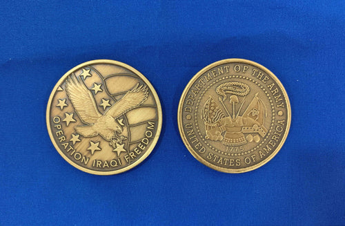OIF Army Metal Coin