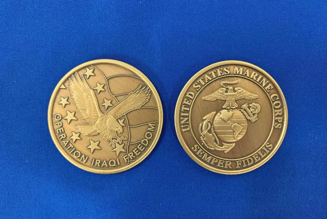 OIF Marines Metal Coin
