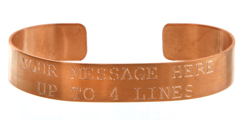 Copper Custom Memorial Bracelet