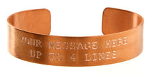 Load image into Gallery viewer, Copper Custom Memorial Bracelet