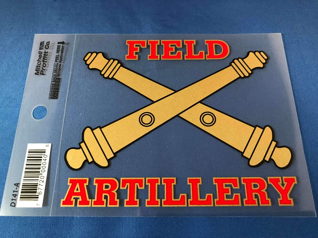 Field Artillery Decal