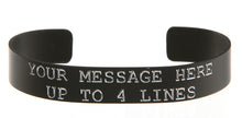 Load image into Gallery viewer, black anodized custom memorial kia bracelet